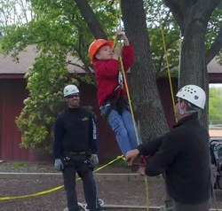 SavATree's certified arborists  help kids learn to climb trees like the pros.