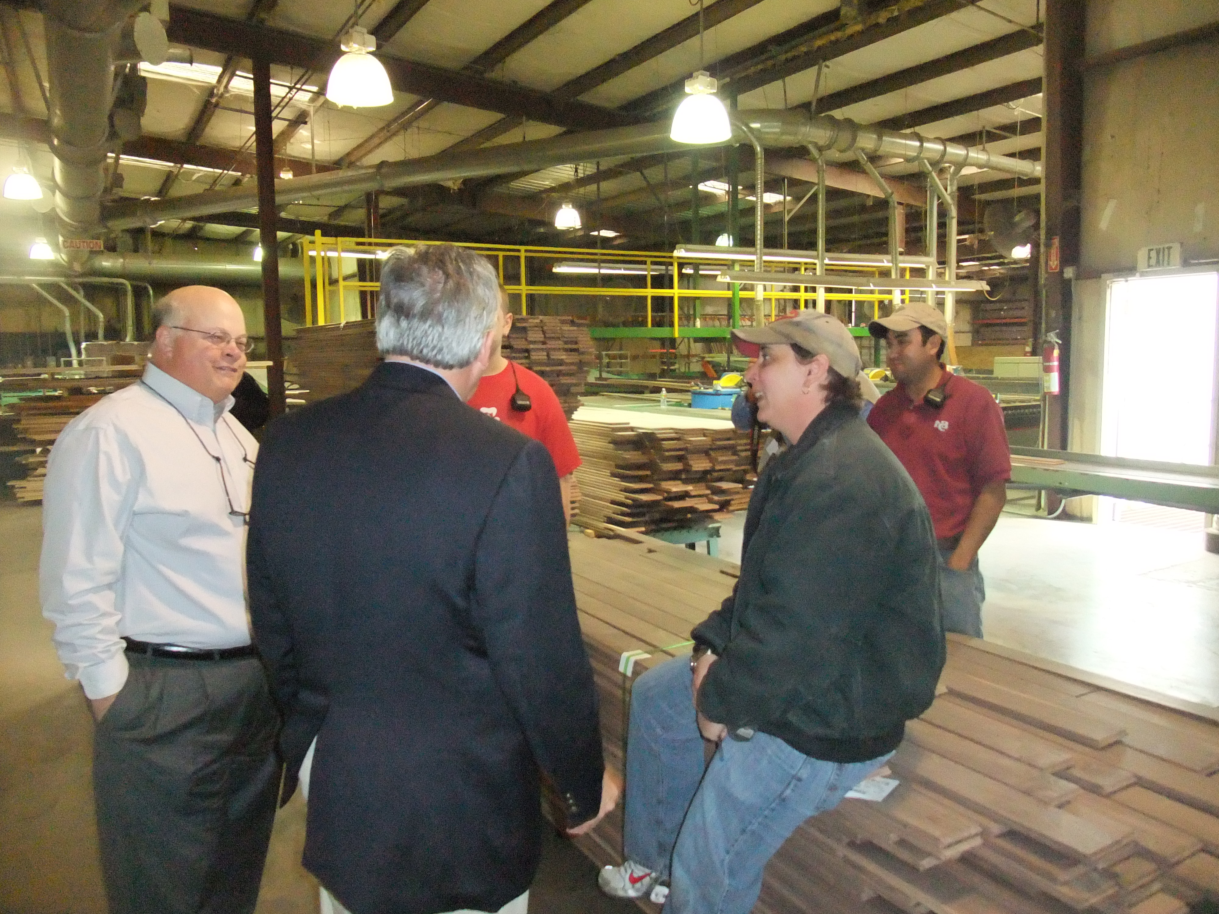 Congressman Childers Visits J T Shannon Lumber Co