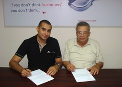 From left to right: Mostafa Mito - Founder and Managing Director of LOJINE Consulting and Moustafa El-Shafie - Biofuel Inventor