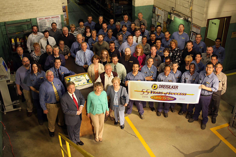 Dreisilker electric motors celebrates 55th anniversary for Dreisilker electric motors inc