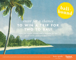 kate spade new york bali-bound sweepstakes