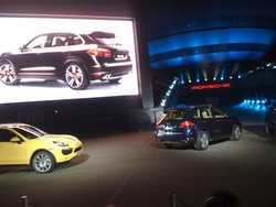Dealer Reveal of 2011 Cayenne in Germany