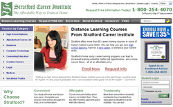 Stratford Career Institute website