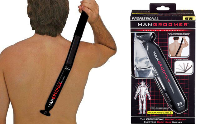 Back hair beware mangroomer shaves the day for men with unwanted new product mangroomer professional do it yourself electric back hair shaverat 4999 this back hair shaver is a must have for beach season and a great solutioingenieria Gallery