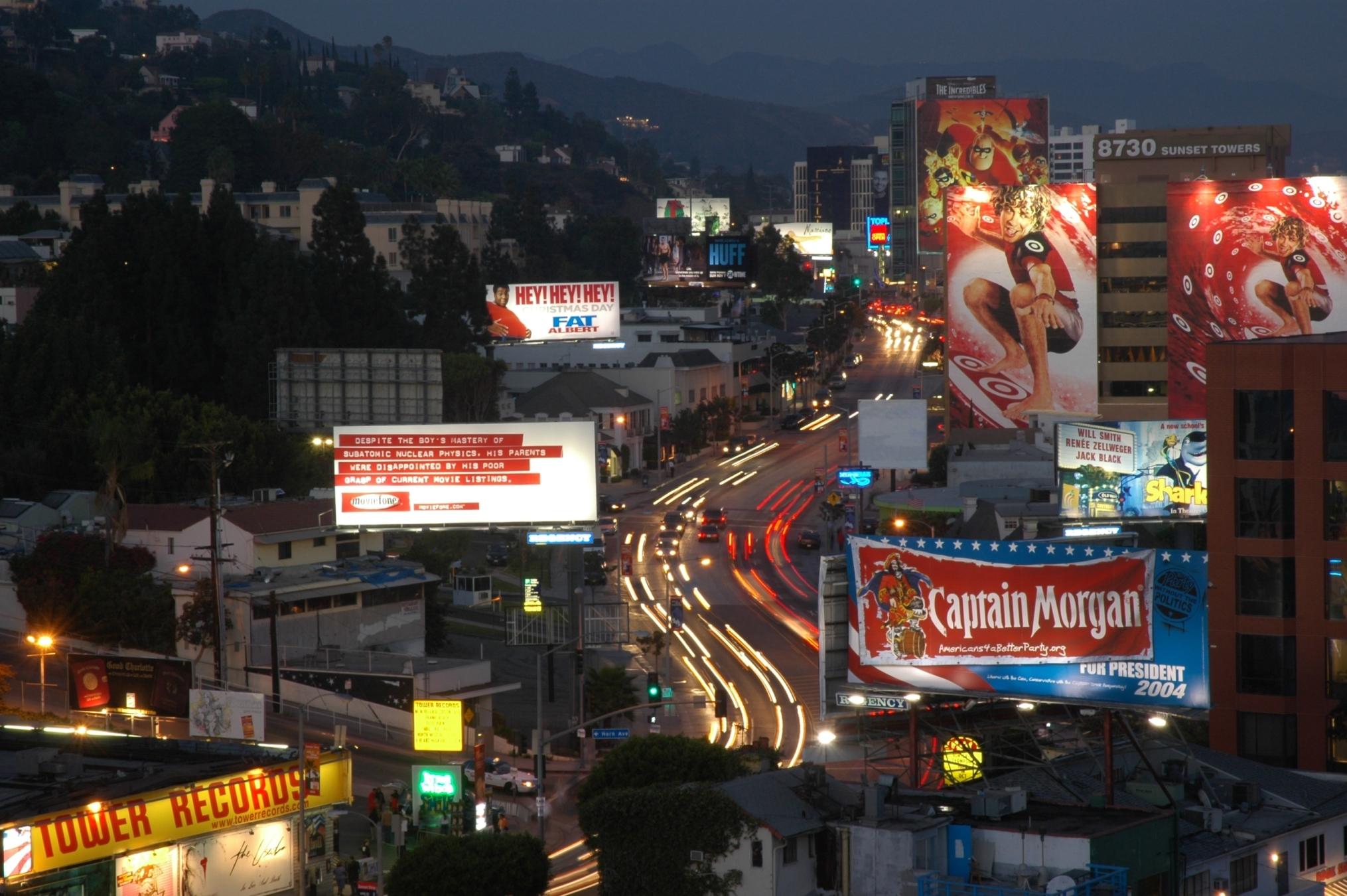 Hollywood Strip Sunset West