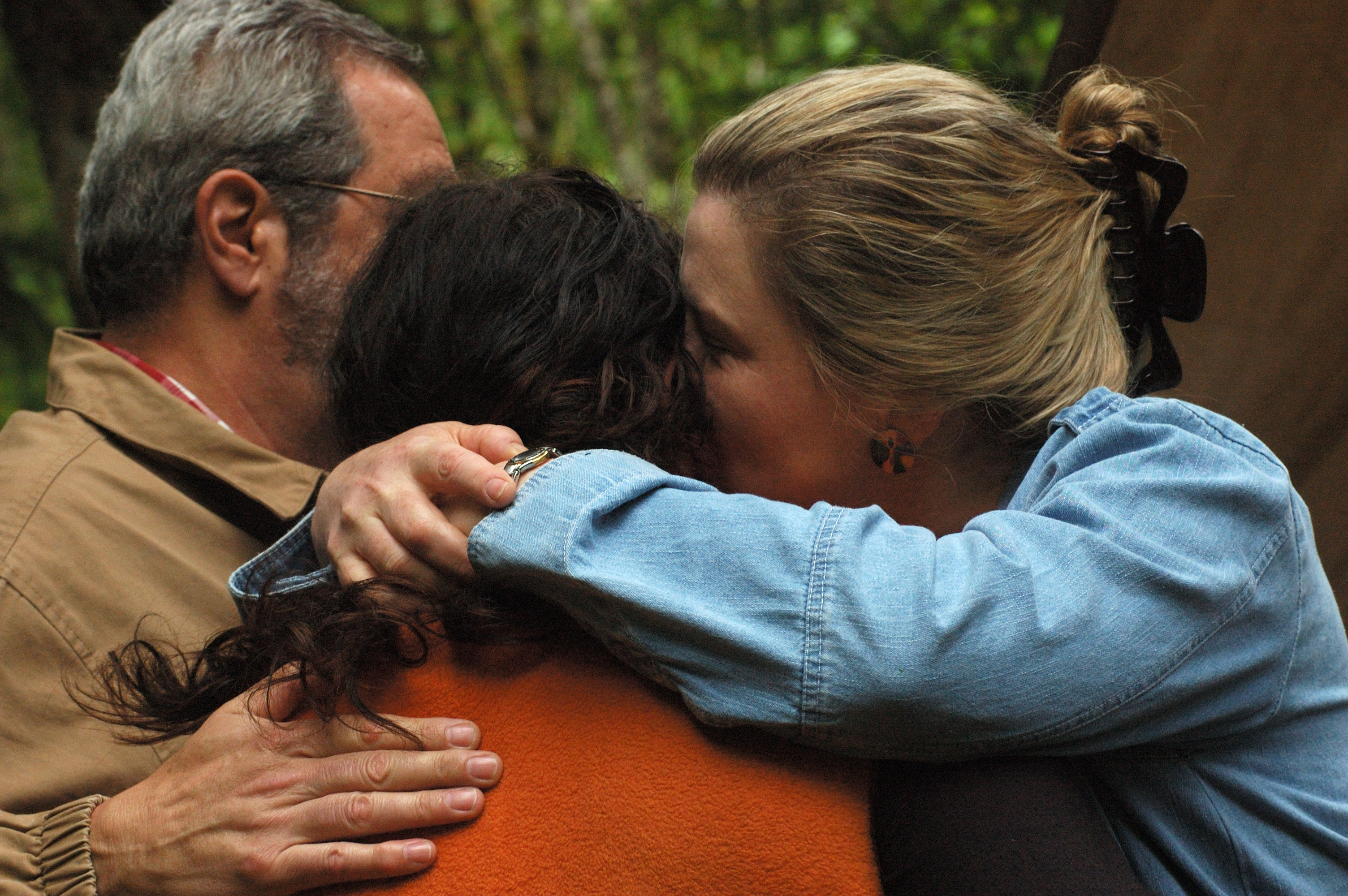 Parent s and child reunite after the child participated in a Catherine  Freer Wilderness Therapy Program
