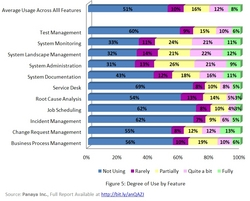 Degree of Use by SAP Solution Manager Feature