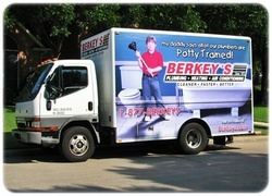The colorful images on Berkey's plumbing service trucks are a welcome sight to homeowners throughout North Texas.