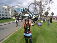 Loree Glenn Gears Up for the Start of the AIDS/Lifecycle Ride