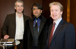 Andy Habermacher, CEO ctp; Dr Srini Pillay, Harvard; Mike Pagan, author of Faff