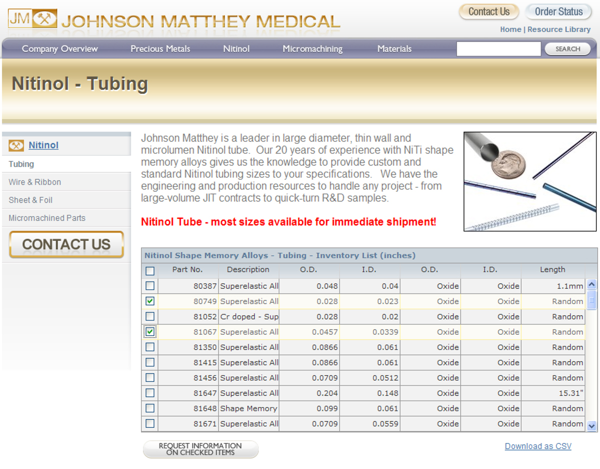 Johnson Matthey Speeds Ordering Process With Online