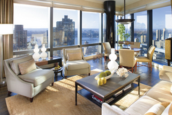 Mandarin Oriental, New York's Taipan Suite has prime Hudson River views to watch the July 4th Fireworks