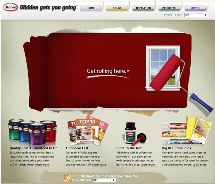 Glidden™ Paints website