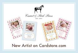 Carrot & Stick Greeting Cards on Cardstore.com