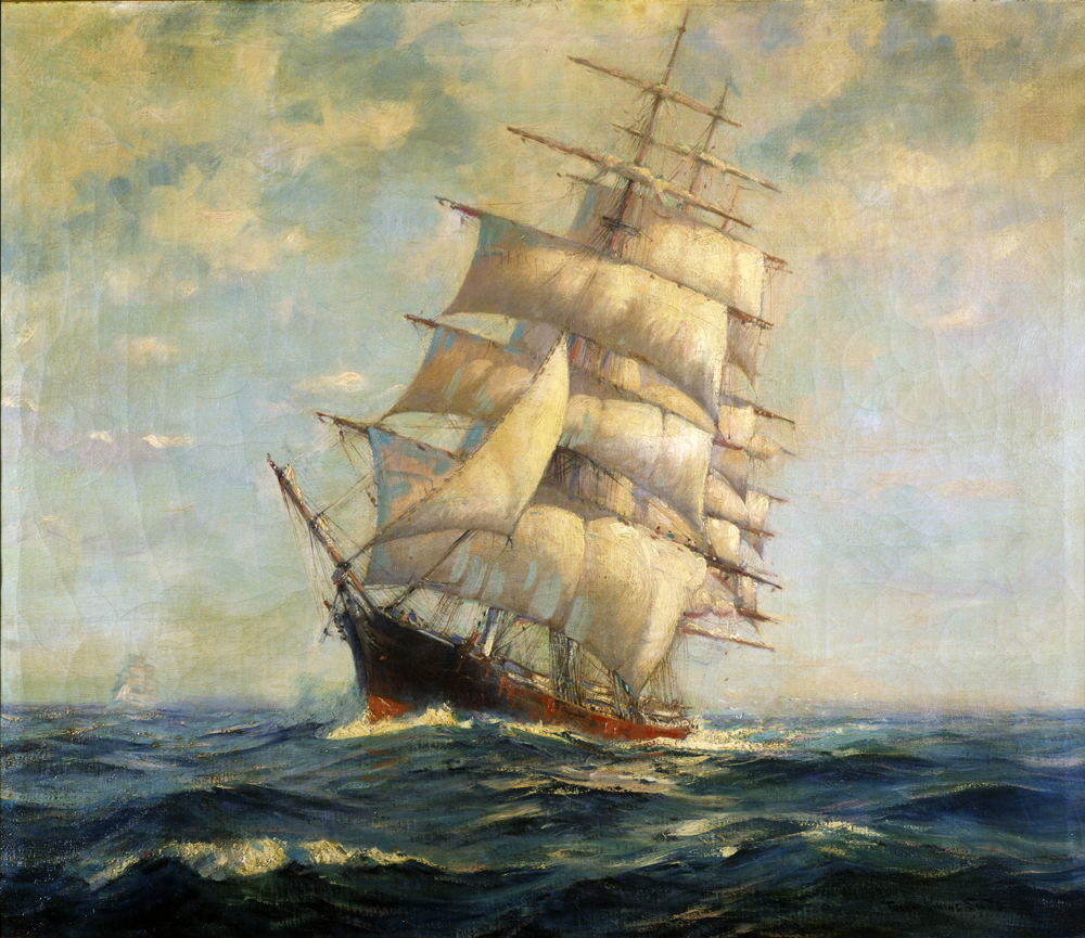 Ship Paintings - Shiptonawandafrankviningsmith