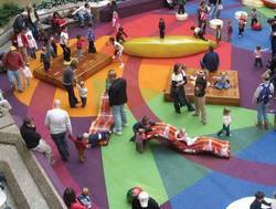 ExperiencePlaytime playgrounds at the Cherry Creek Shopping Center in Denver CO