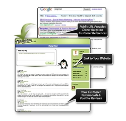 Get Your Customer Testimonials Indexed By The Search Engines Automatically!