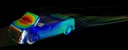 Exa PowerFLOW simulation of Ultimate Car Build-Off model