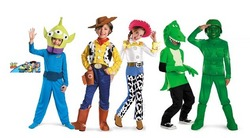 an assortment of some of the toy story 3 costumes for halloween 2010