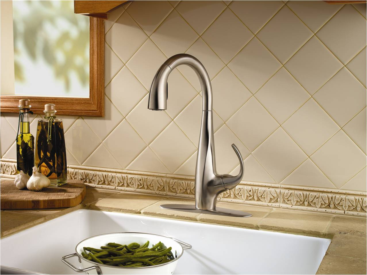 Smaller Commercial Pull Down Faucet Kitchen