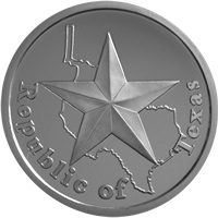 Republic of Texas first one ounce silver medallion