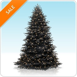 Black Artificial Christmas Tree