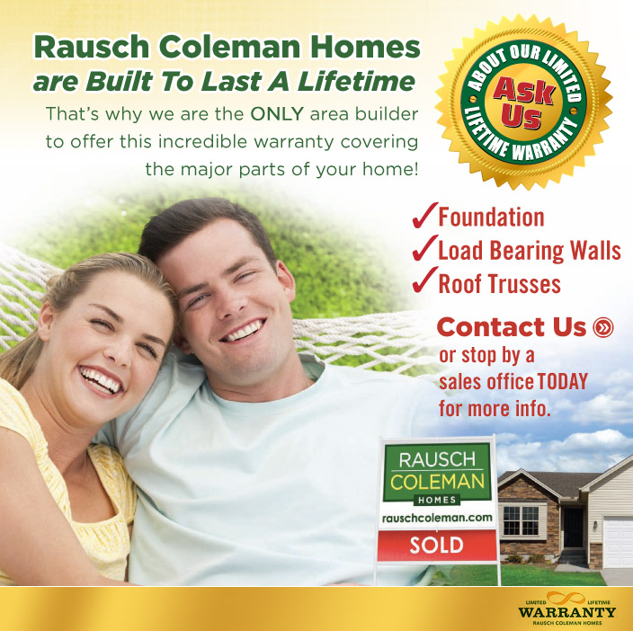 Rausch Coleman Homes Announces Lifetime Limited Warranty
