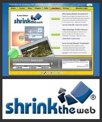 Website Screenshot of ShrinkTheWeb.com