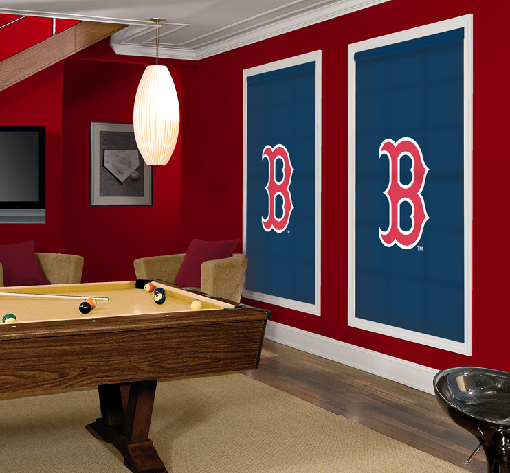Make Over Your Game Room With Officially Licensed MLB Logo Window Shades
