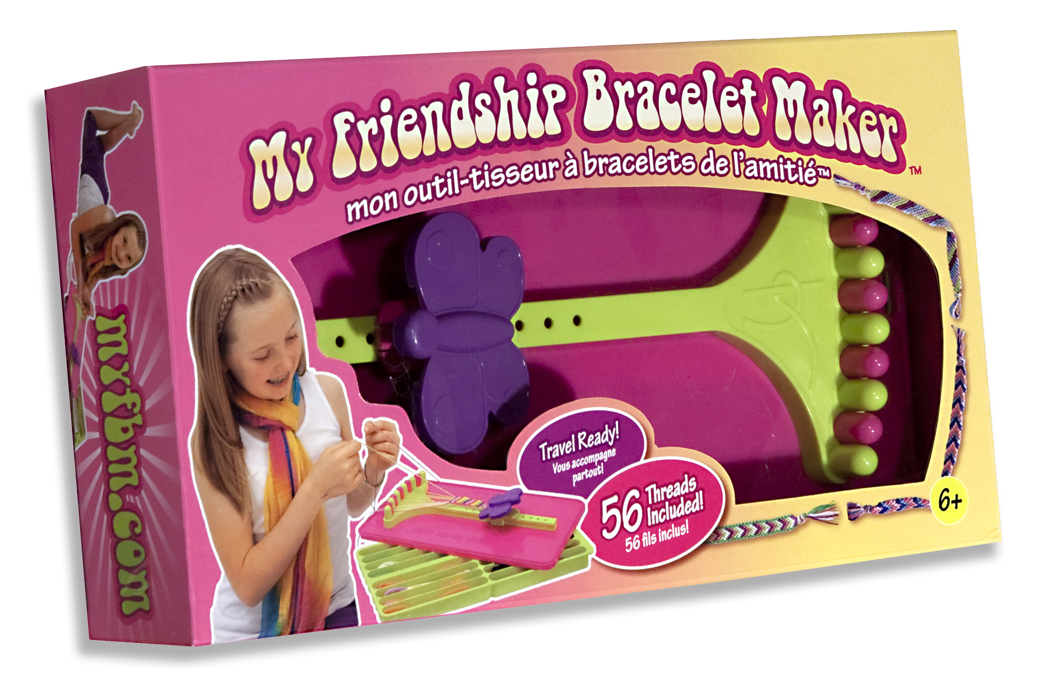 My Friendship Bracelet Maker Launches Pink And -  my friendship bracelet maker includes 56 pre cut 60 inch threads in 14 different colors