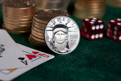 Play poker with real gold, silver and platinum coins instead of chips