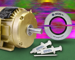 Aegis split ring conductive epoxy kit the simplest for Vfd motor bearing failure
