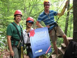 Zip Line Canopy Tour Sees 10 000th Guest At Ace Adventure Resort In