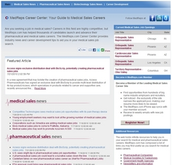 The leading site for medical sales jobs introduces a new resource for those seeking medical sales careers.
