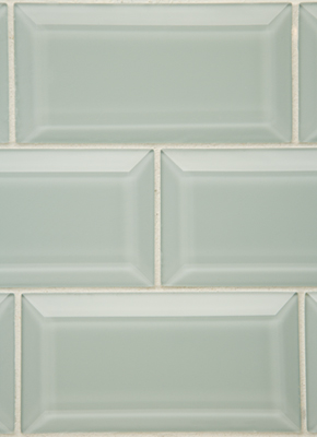 subway tile with beveled edges and rope trim pictures to
