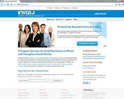 Website of Miami IT Services company Invizio
