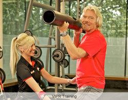Health club founder Sir Richard Branson in ViPR training.