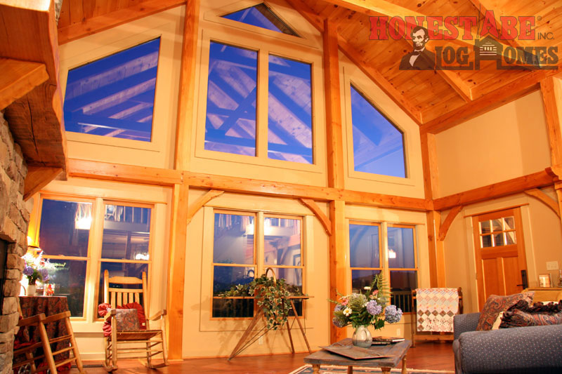 Log Homes Council Features Navajo Floor Plan By Honest Abe