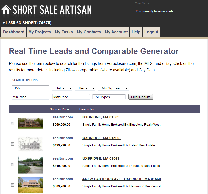 Short Sale Leads