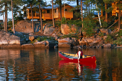 newly refurbished french river lodge at pine cove blends