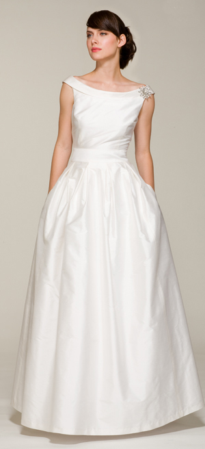 A 60slook offtheshoulder ballgown wedding dress with pockets in white