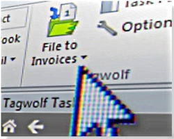 Tagwolf Files Email With a Single Click