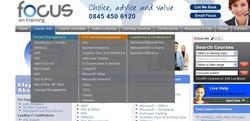 focus training - course search menu