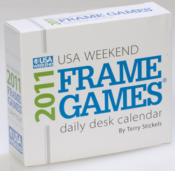 word puzzles, frame games, 2011 calendar, page-a-day calendar