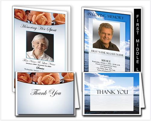 Funeral Programs and Thank You Cards Funeral Programs and Thank You ...