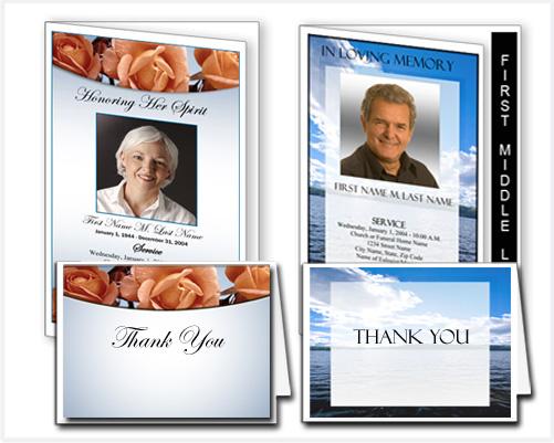 Elegant Memorials Funeral Program Templates