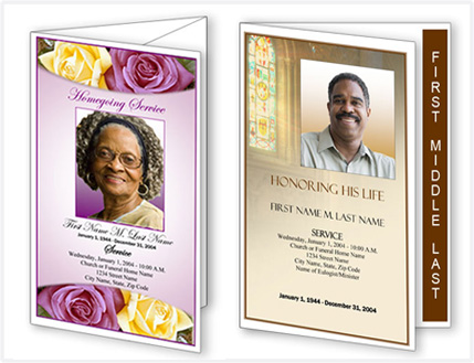 ... Funeral Program TemplateFuneral Program Template From Elegant Memorials  Free Memorial Program Templates