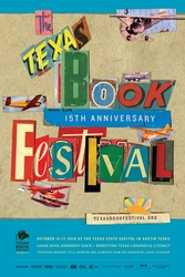 gI 2010TBFposterbluemed.JPG Texas Book Festival kondigt Blockbuster Schema voor 15 jarig jubileum: Pulitzer Prize winnaar, Food TV Beroemdheden, Book Club Favorieten en Rock and Roll
