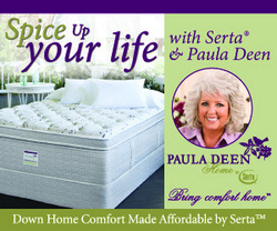 Paula Deen Serta Mattress contest home comfort recipe mattresses by Paula Deen