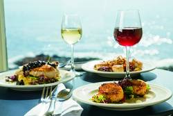 Gourmet wine and microbrew tasting dinners at The Cliff House Resort & Spa in Ogunquit on the south coast of Maine.